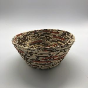Handmade Recycled Materials Basket/Bowl.